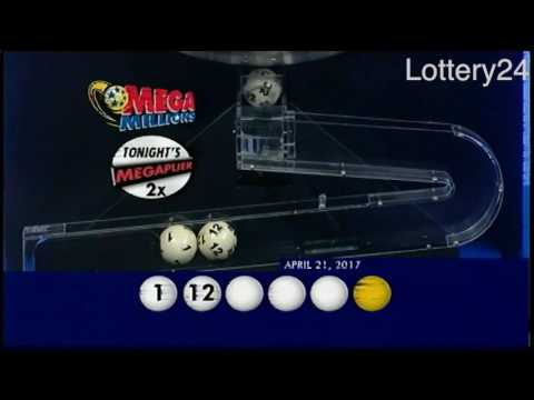 2017 04 21 Mega Millions Numbers and draw results