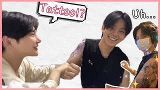 SUB) Getting a tattoo without boyfriend knowing and see how he reactsㅣ남자친구 몰래 타투하고반응보기