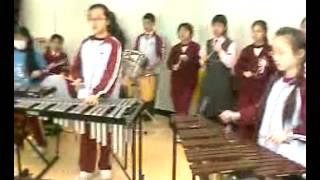 福榮街官立小學敲擊樂團排練 - Barry Manilow