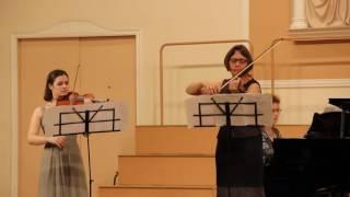 """Дж.Керн-И.Фролов """"Дым"""" из мюзикла """"Роберта"""" для двух скрипок и фортепиано"""