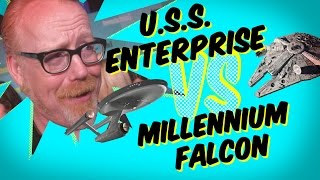Millennium Falcon vs USS Enterprise: Who
