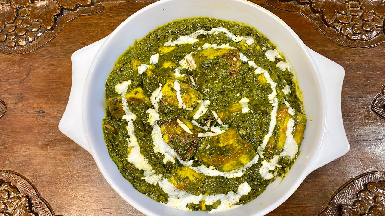 Palak Paneer || Restaurant style palak paneer || spinach and cottage cheese || tchaman palak || KFF
