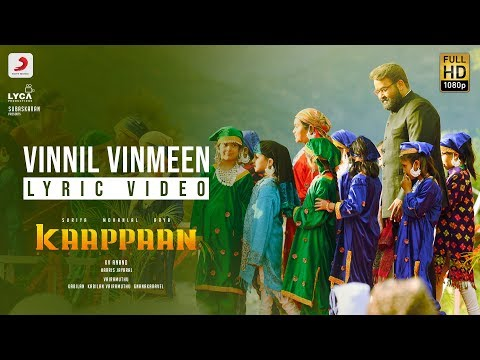 vinnil vinmeen song lyrics kaappaan 2019