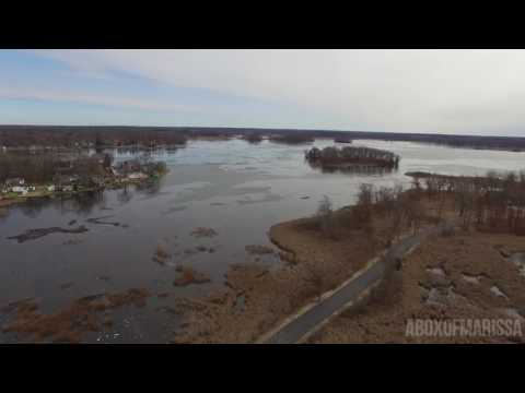 Drone over Michigan Center Lake Jackson, MI