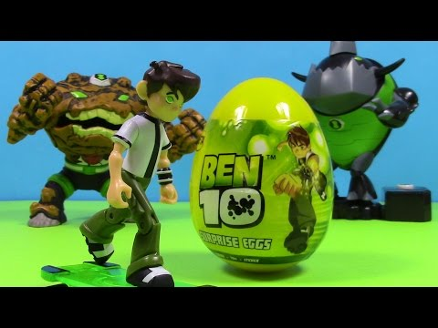 Ben10 Surprise Egg  From Cartoon Network by Blutoys  Sorpresa Huevo With Gravattack and Eatle