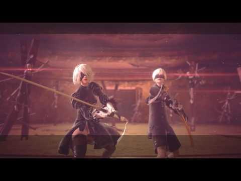 Nier Automata - Beauvoir Boss Fight [1080p 60fps] PS4 PRO