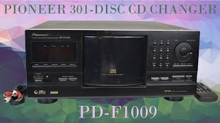 Pioneer 300 Plus 1 CD Player Changer High Capacity Compact Disc System PD-F1009 Product Demo