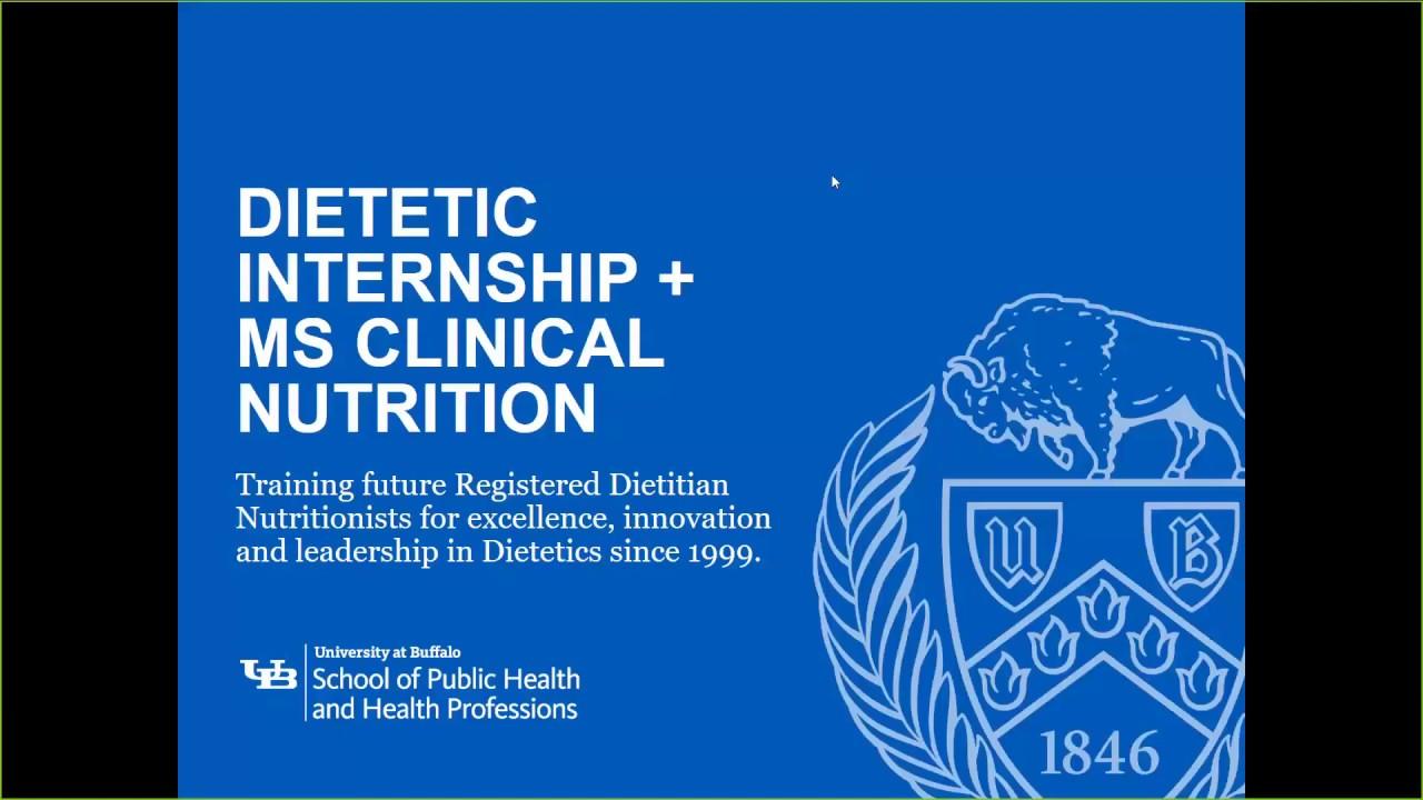Dietetic Internship with Master of