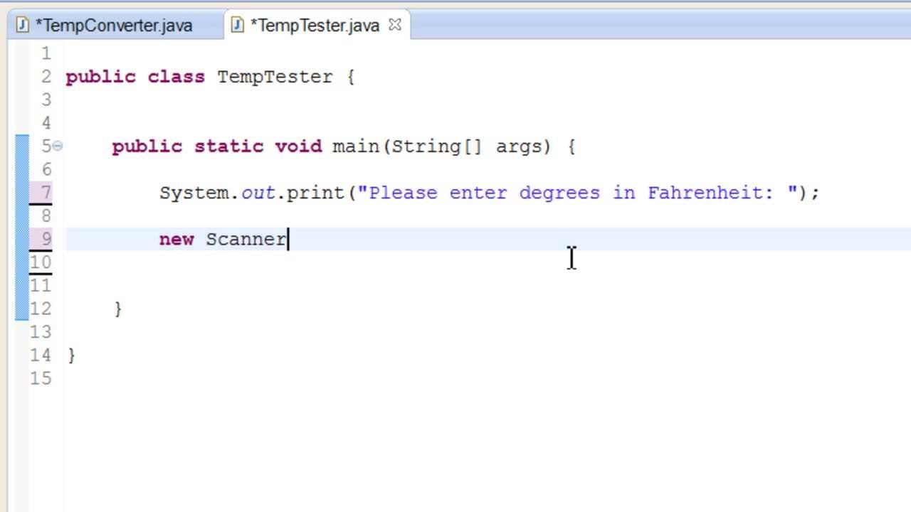 05 Java More On Data Types Degrees Fahrenheit To Degrees Celsius