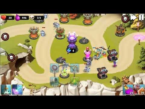 Castle Creeps TD - Chapter 8 Level 30 Cave Match 3 Stars (Without Sentinel)