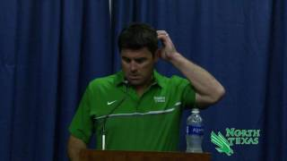 north texas football nt vs florida littrell post game presser 9 17