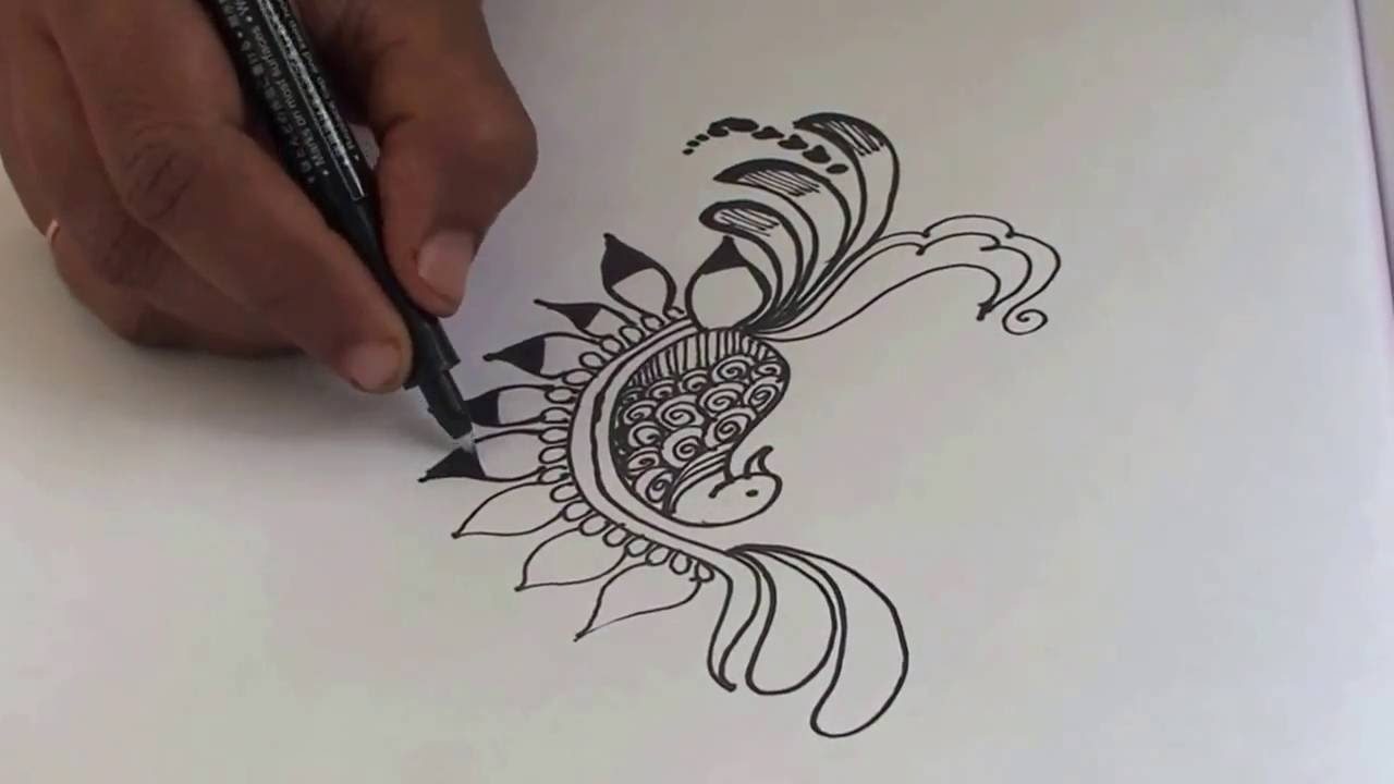 Simple Peacock Mehndi Designs 05easy StyleHow To Make