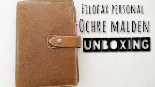 Filofax Personal Ochre Malden Unboxing