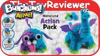 Bunchems Alive Motorized Action Pack Puppy & Dragon Unboxing Toy Review by TheToyReviewer
