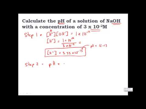 Calculating PH From [OH-] Hydroxide Concentration - CLEAR & SIMPLE