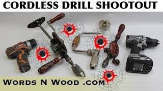 CORDLESS DRILL SHOOTOUT! (WnW #85)