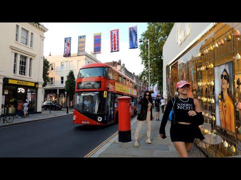 🌞Chelsea London summer Walk 2021🌞Kings Road, world's End [4K]