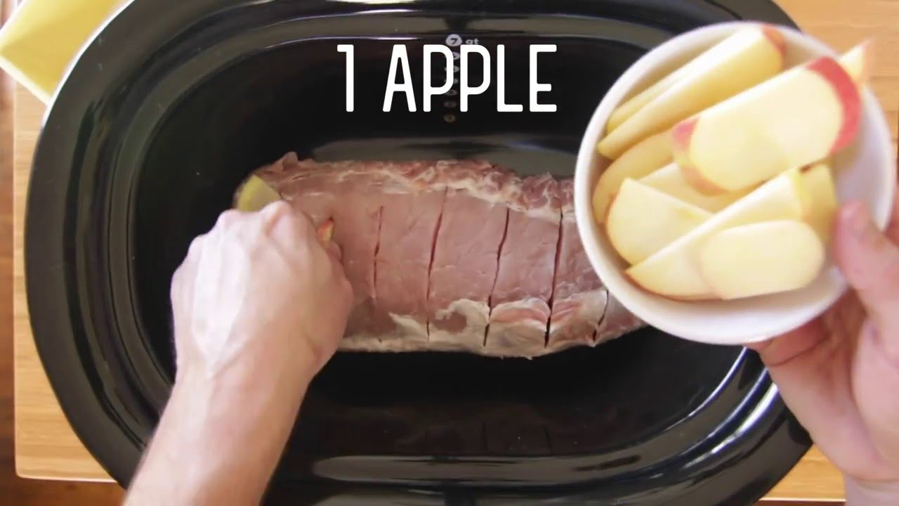 Recipe pork loin apples onions