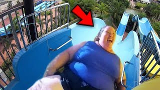 Top 10 MOST HILARIOUS Waterslide Fails (Best & Funniest Waterslides Fails)