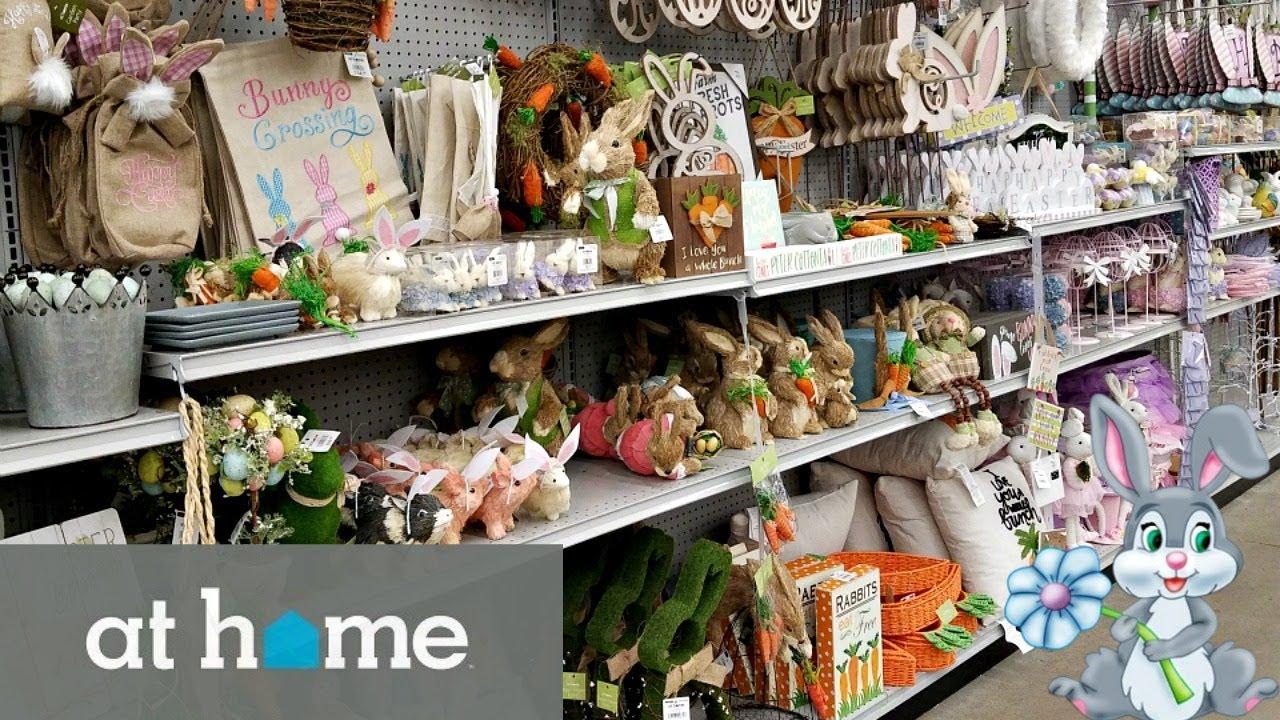 Shop With ME! AT HOME STORE EASTER DECORATIONS 2018
