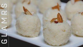 2 Ingredient Tasty Coconut Laddoo - Quick & Easy Vegetarian Desi Dessert Recipes
