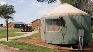 Kansas camping with a Mongolian touch