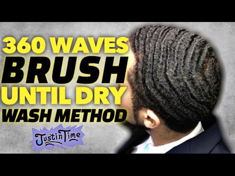 360 Waves: Brush Till Dry Wash Method - Best Way To Wash Your Waves 2018!