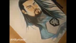 WWE Roman Reigns drawing