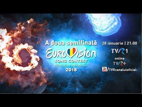 A doua Semifinală Eurovision România 2018 (LIVE)