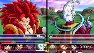 Dragon Ball Z Budokai Tenkaichi 3 - Gogetto SSJ4 VS Bills & Whis Red Potara *Epic Fight (1080p)