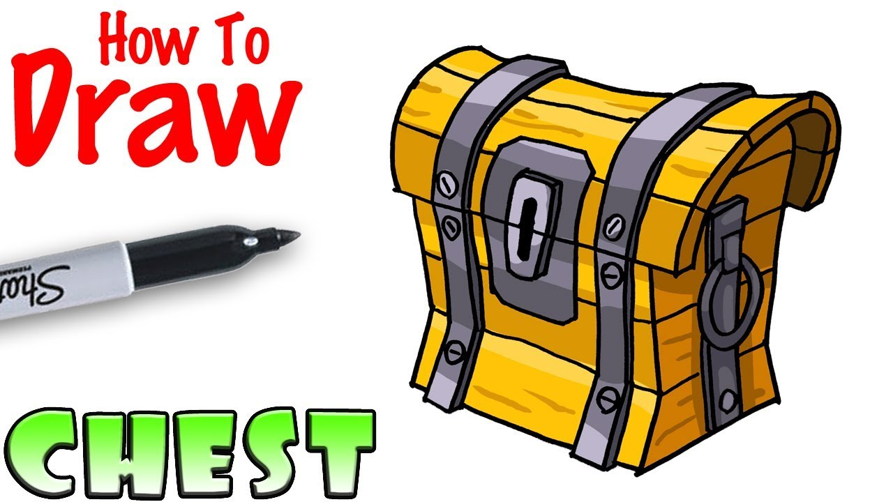 How To Draw The Chest Fortnite Youtube