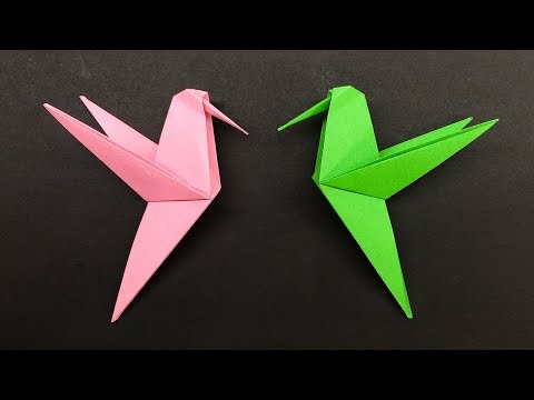 Easy Origami for kids Hummingbird - How to make Origami Hummingbird