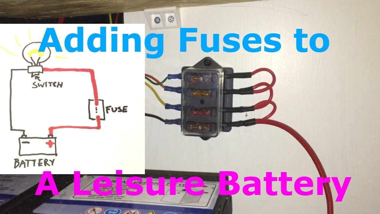 hight resolution of fuses for a leisure battery