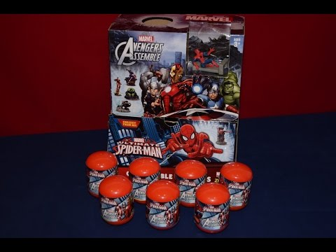New Marvel Avengers Assemble Capsules Eggs Surprise Hulk Thor Iron Man
