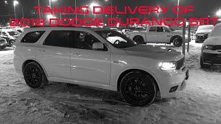 Taking delivery of new 2018 Dodge Durango SRT