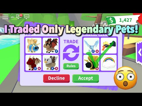Trading Only Legendary Pets For 24 Hours In Adopt Me! Roblox