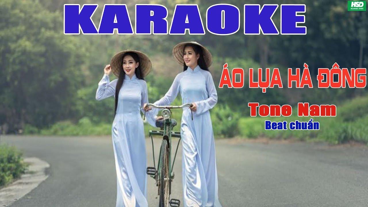 """Karaoke ÁO LỤA HÀ ĐÔNG – Quang Dũng–Bản hòa âm ACOUSTIC xuất sắc của GUITAR """"Lãng tử"""" Hoàng Minh"""