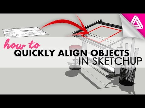 How to Align Objects in Sketchup (the easy way)