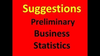 Preliminary- Accounting Department-( Business Statistics)