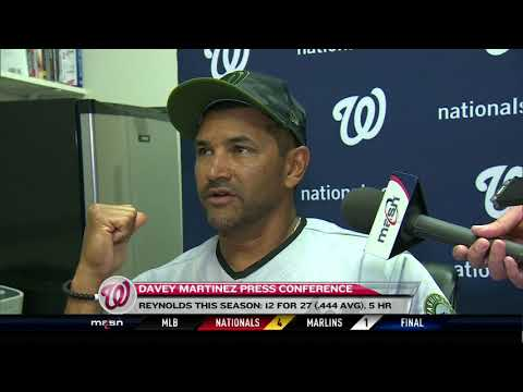 Davey Martinez after Nats' win over Marlins