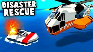 Rescue Helicopter Crashes into Sinking Boat on Fire! (Stormworks Gameplay)