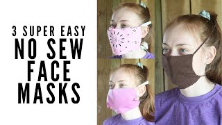 3 Easy No Sew Face Masks Using Things You Have at Home