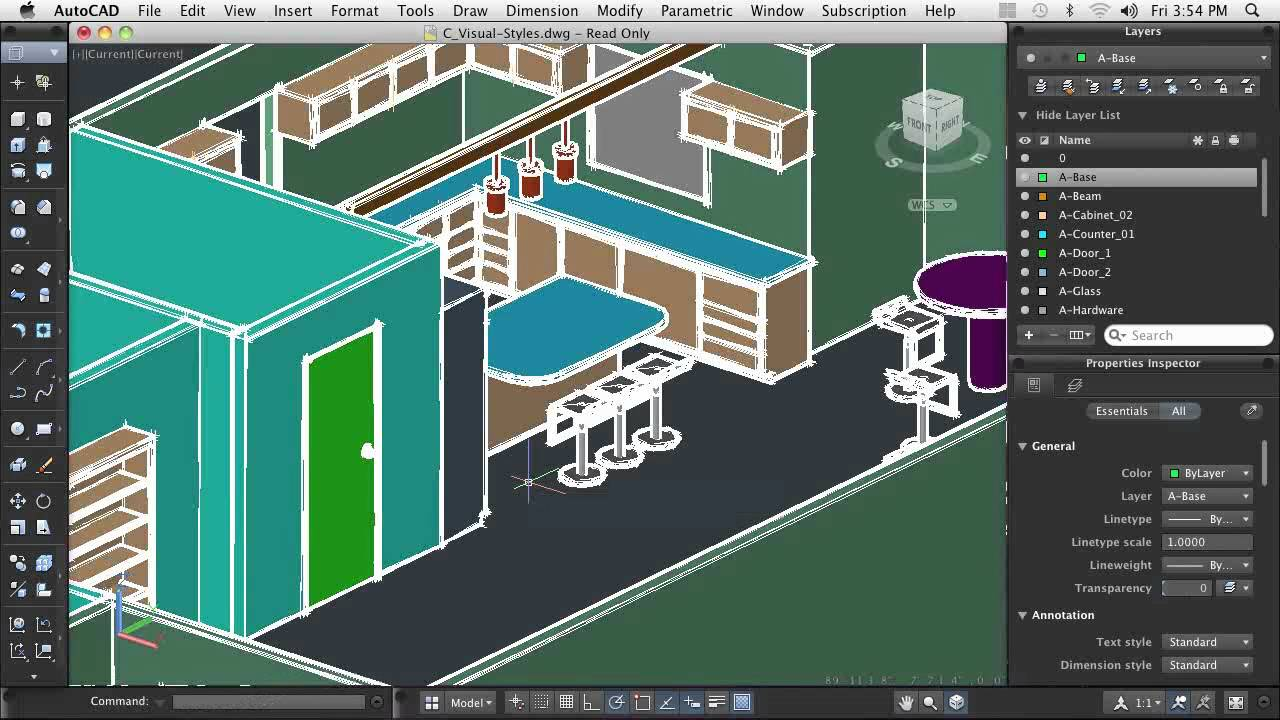AutoCAD For Mac: Using Visual Styles