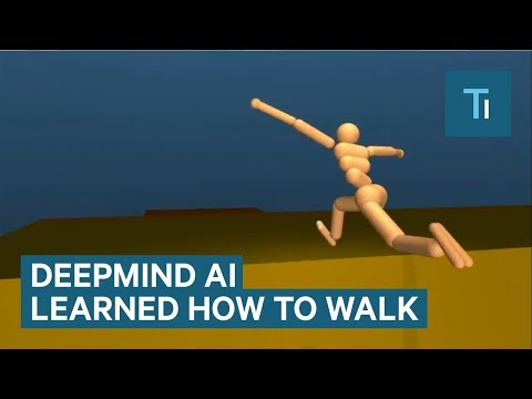 Thumbnail: Google's DeepMind AI just taught itself to walk