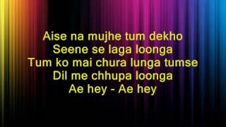 Aise Na Mujhe Tum Dekho - Darling Darling - Full Karaoke