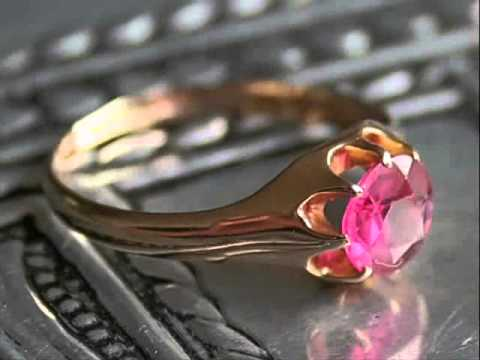 Art Deco 18ct Gold Ruby Ring From Turku, Finland. The Vintage Jewellery Company