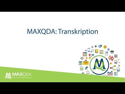 Transkribieren Mit MAXQDA 2018