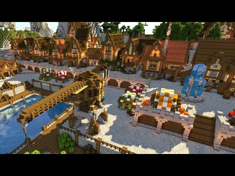 Minecraft Timelapse   Medieval Town and Port