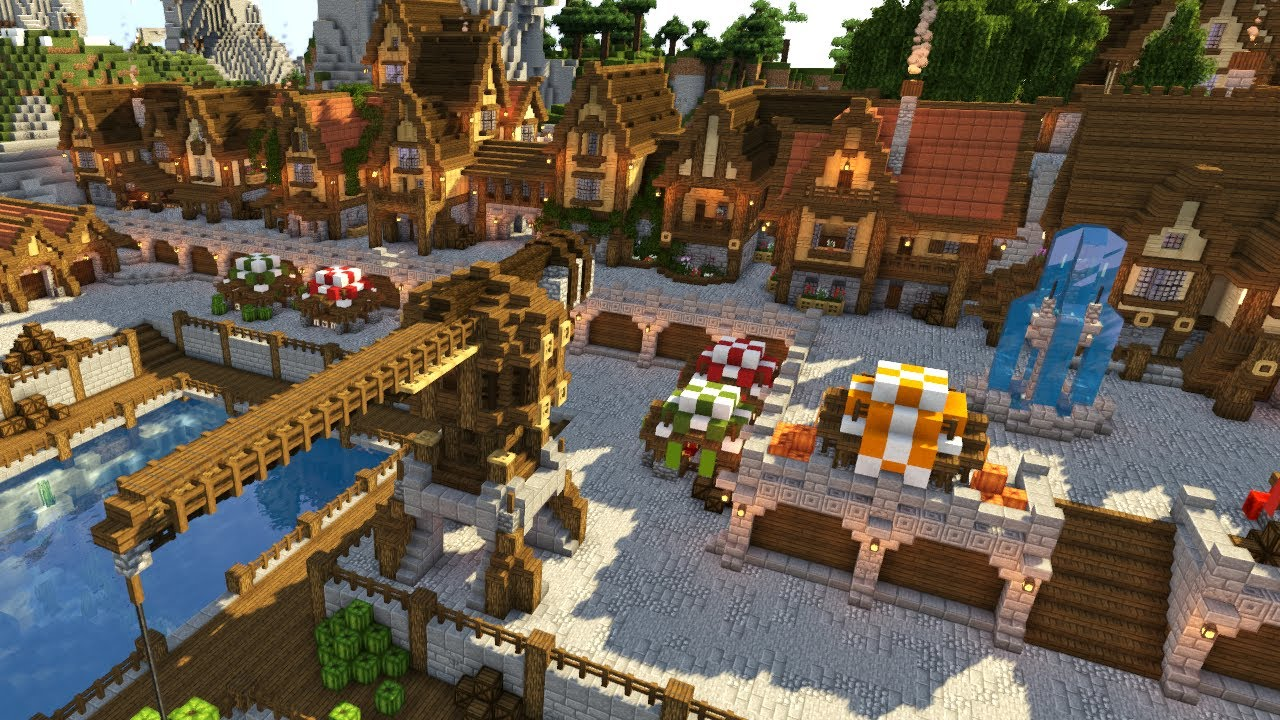 Minecraft Timelapse | Medieval Town and Port