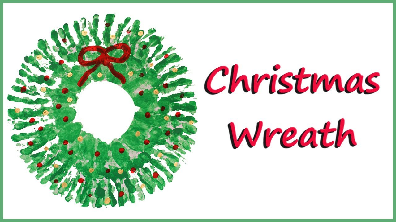 how to paint a christmas wreath with your hands youtube